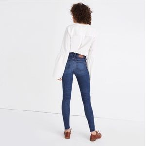 "Madewell 9"" High Riser Skinny Jeans Size 25"